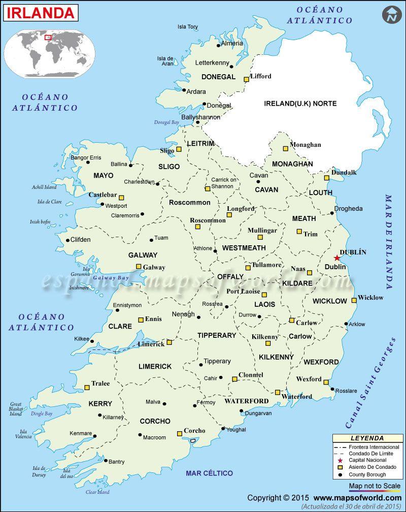 Irlanda mapa mapa de irlanda irlanda pinterest dublin ireland irlanda mapa poltico gumiabroncs Images