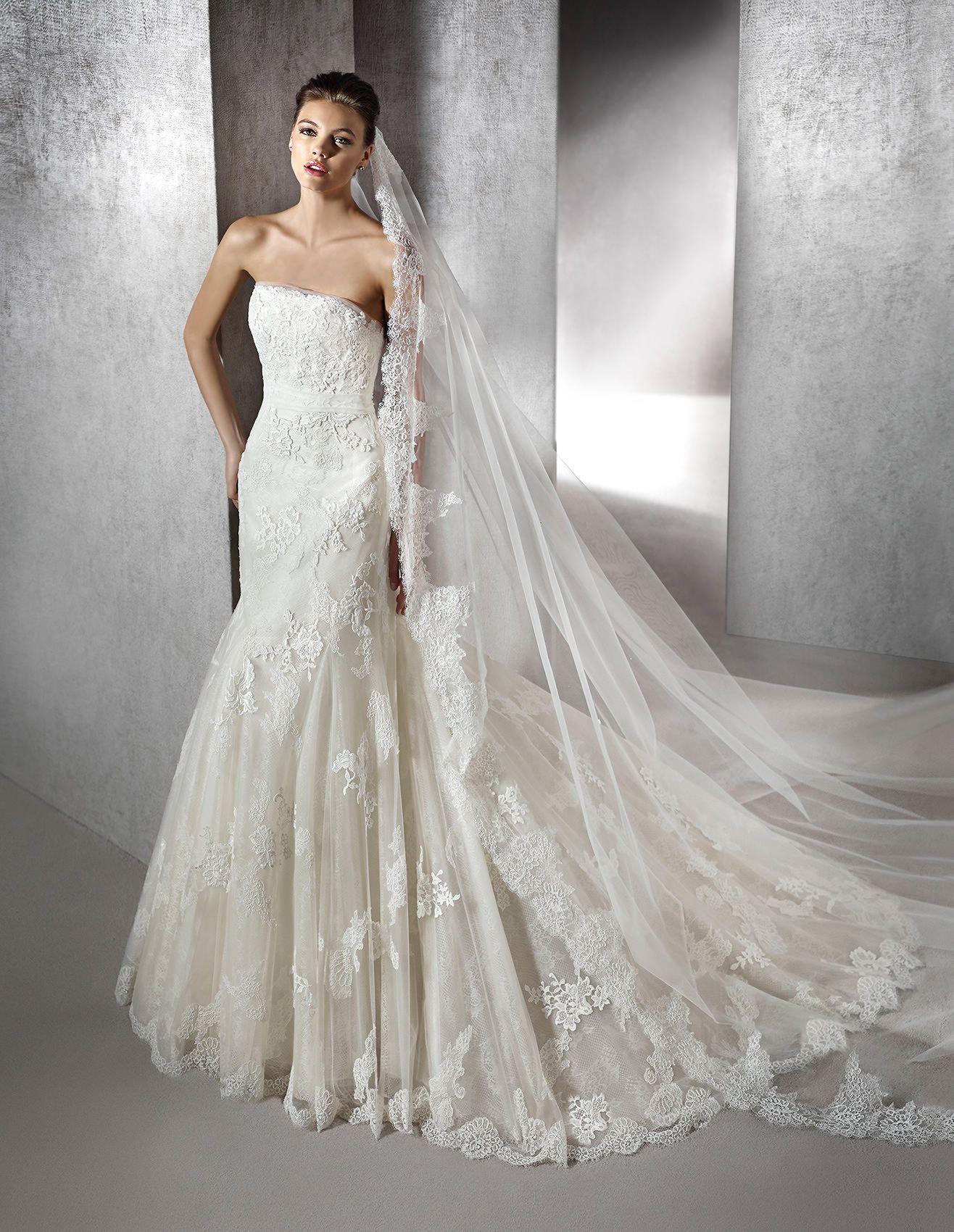 Zelena Strapless Mermaid Wedding Dress St Patrick St