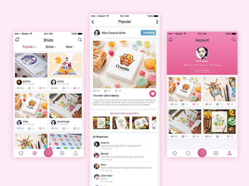 Dribbble app by Grace_hui