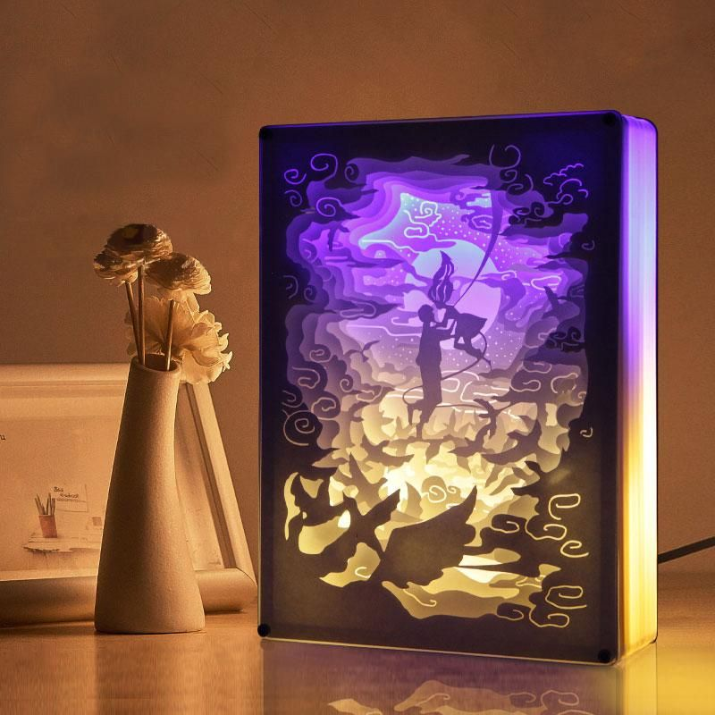 3d Light And Shadow Night Lamp Paper Carving Art Buy 2 Free Shipping Paper Carving 3d Paper Light And Shadow