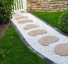 Resultat De Recherche D Images Pour Dalle Pour Jardin Simple Stone Landscaping Garden Pathway Garden Paths