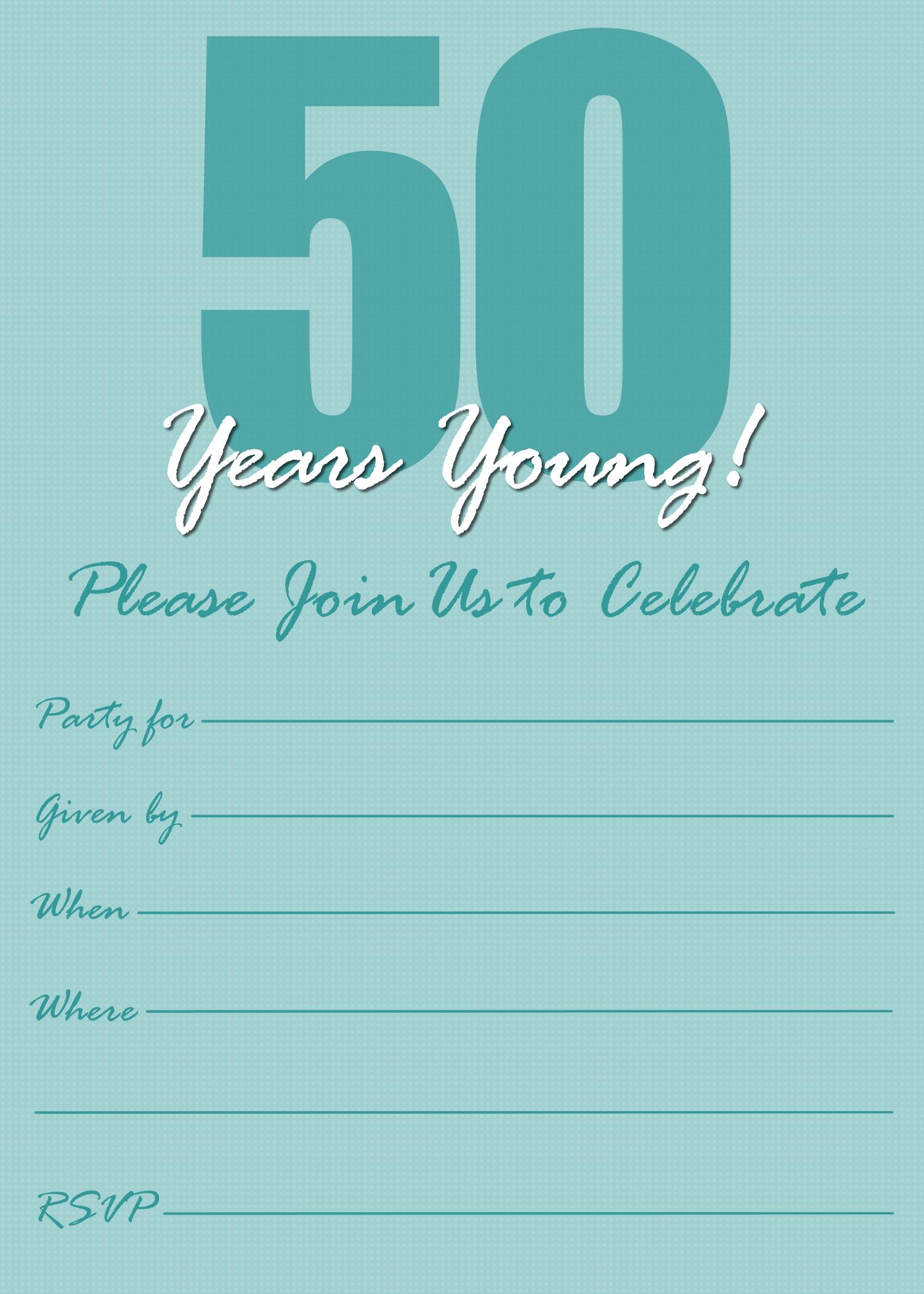 Free Printable 50th Birthday Party Invitation Templates