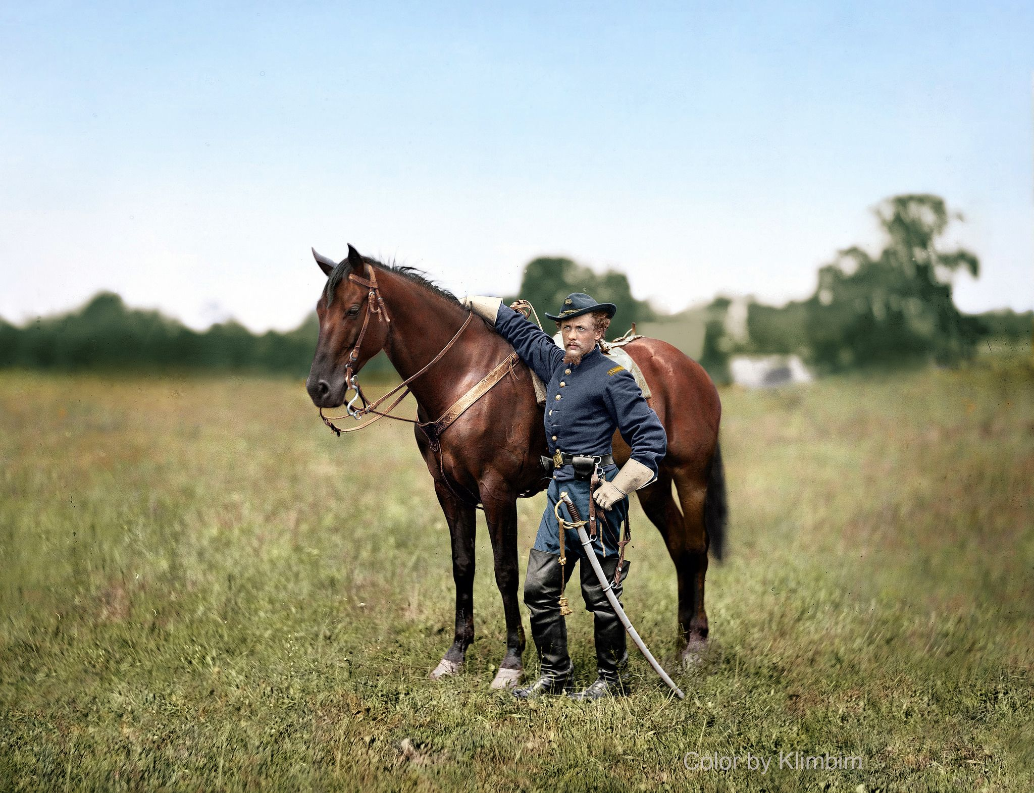 """https://flic.kr/p/N6yHDS   Captain Henry Page, 1863   August 1863. Bealeton, Virginia. """"Capt. Henry Page, assistant quartermaster, at Army of Potomac headquarters with horse."""