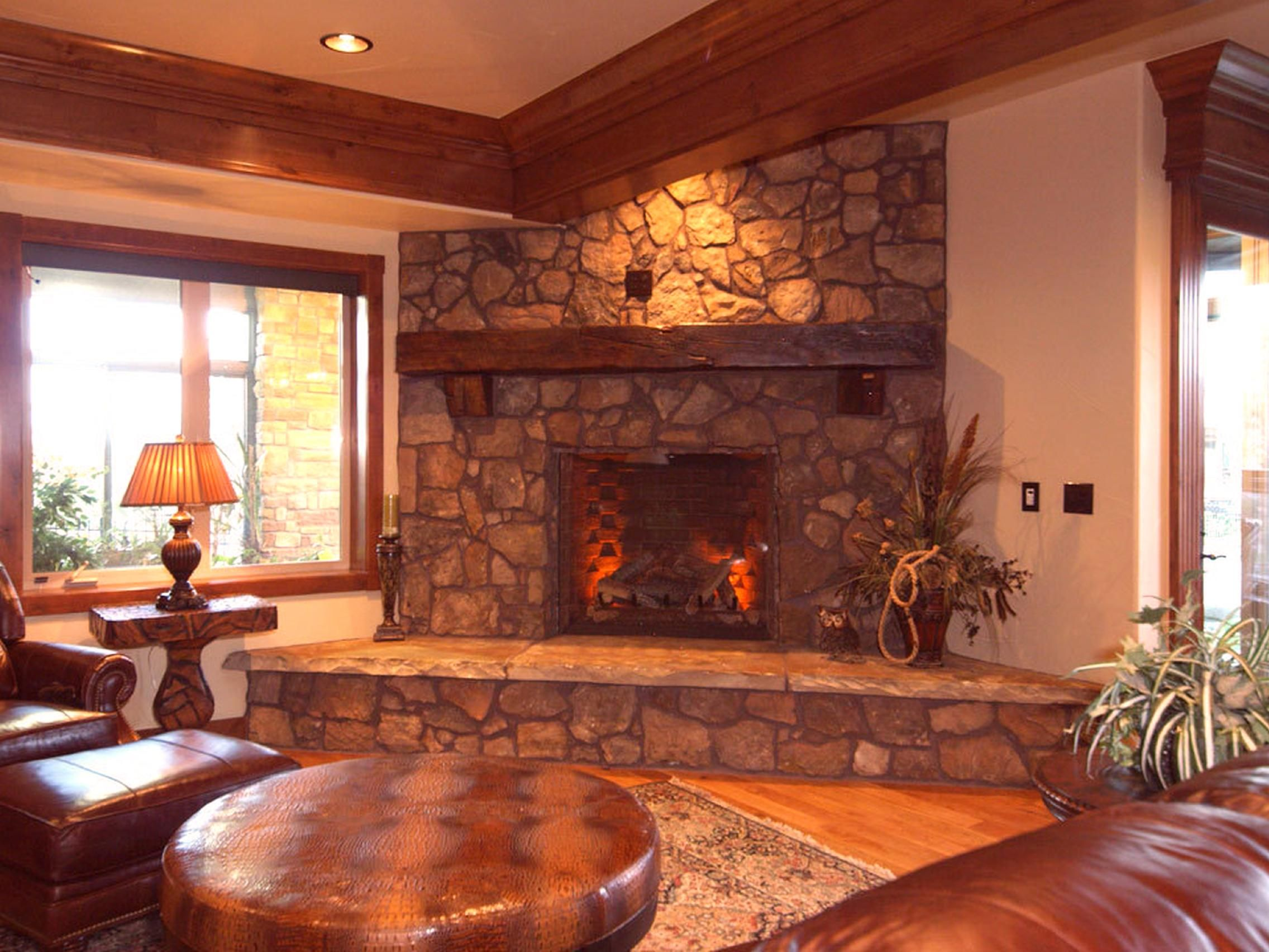 indoor electric fireplace with faux stone surround fireplace