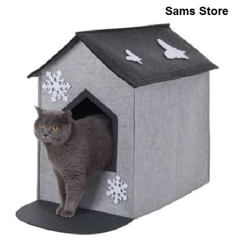 Indoor Cat Den This Fabulously Sleek And Cosy Looking Cat Den Is Perfect For Your Cats Or Smaller Dogs To Sleep Hide Away Or Even Use Pet Products Felt