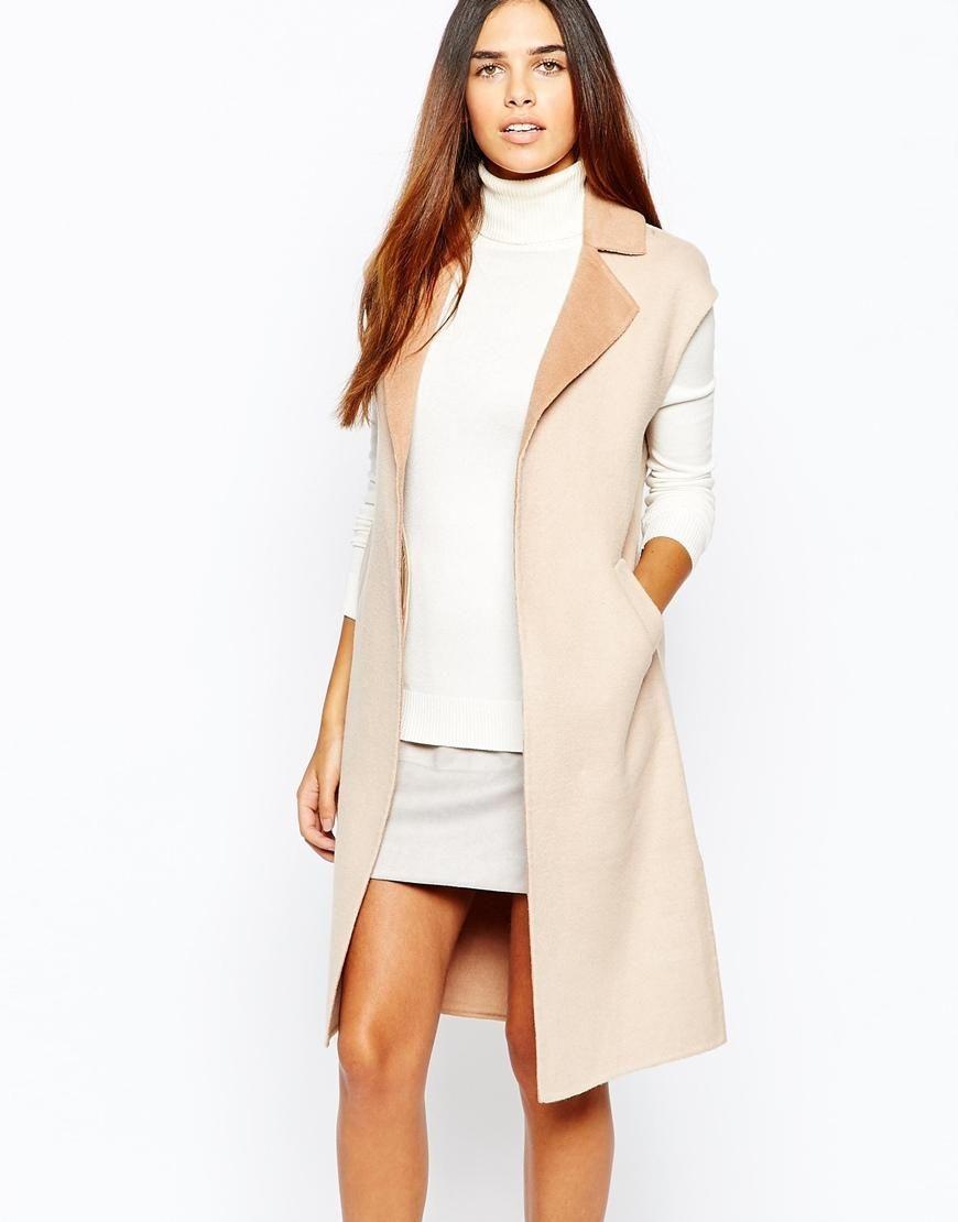 Warehouse | Warehouse Sleeveless Wool Coat at ASOS