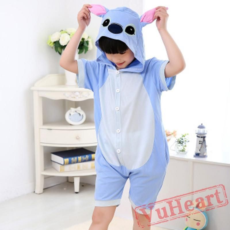 00c275f24 Kigurumi | Blue Pink Stitch Kigurumi Onesies - Summer Onesies for Kids