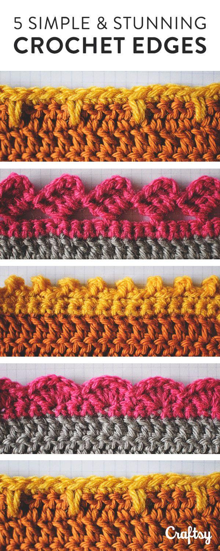 5 Crochet Edges You Should Know | Ganchillo, Tejido y Puntadas