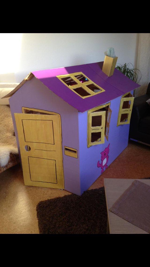 karton haus von der anderen seite maket origami. Black Bedroom Furniture Sets. Home Design Ideas