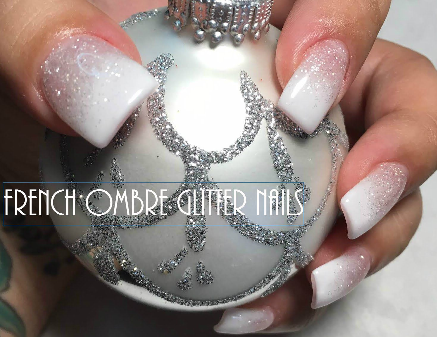 French Ombre Glitter Nails Ombre Nails Glitter Nail Designs