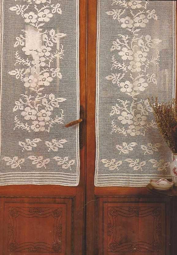 Cortina a crochet crochet patrones pinterest for Cortinas ganchillo
