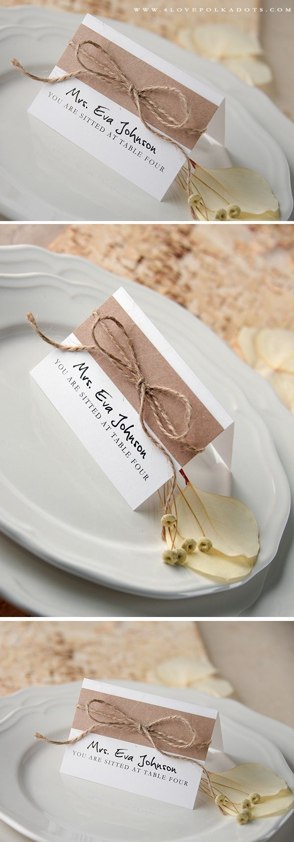PLACE CARDS rustic and lace | Wedding places, Weddingideas and Place ...