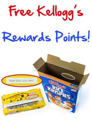 50 Points Free Kellogg 8217 S Family Rewards Codes Big List