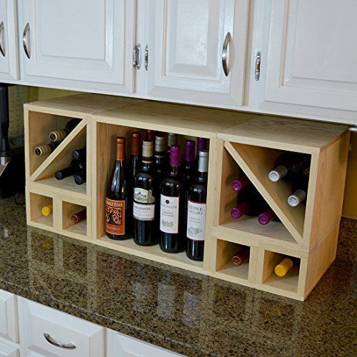 Best Wine Rack   Creekside 28 Bottle Countertop Cube Set with Cubby 12 Deep Pine ** Be sure to check out this awesome product. Note:It is Affiliate Link to Amazon.