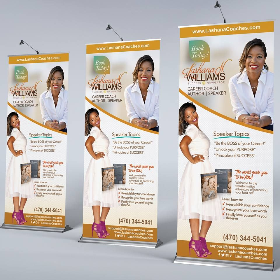 Pin By Danesha Little On Author Promotional Ideas In 2020 Banner Design Inspiration Retractable Banner Design Retractable Banner