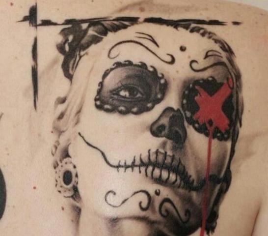 Tatuajes de la Santa Muerte   Tattoos   Sugar skull tattoos