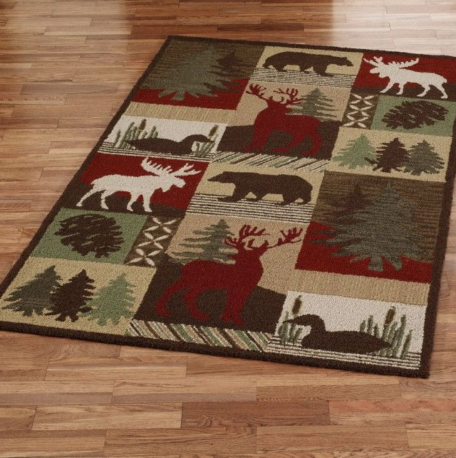 Moose Themed Rugs: Lodge Themed Area Rugs