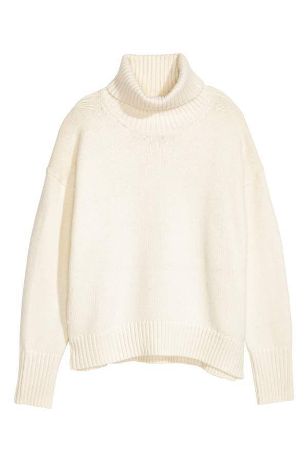 4617f83206 H M Knit Turtleneck Sweater - White - Women
