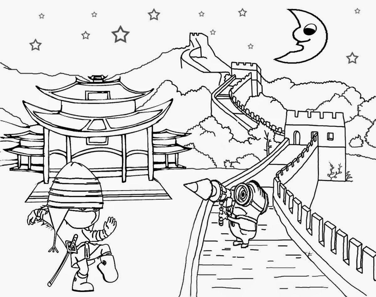 Great Wall Of China Oriental Landscape Chinese Ninja