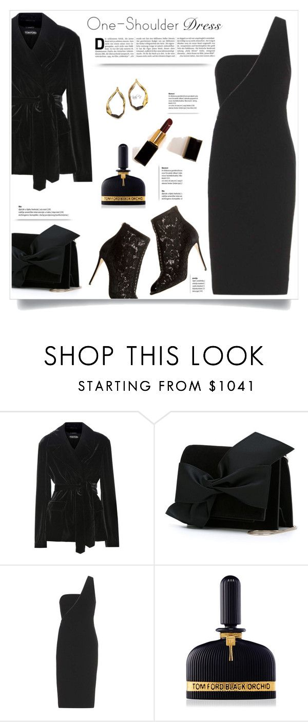 """""""One-Shoulder Dress"""" by kiki-bi ❤ liked on Polyvore featuring Tom Ford and Victoria Beckham"""