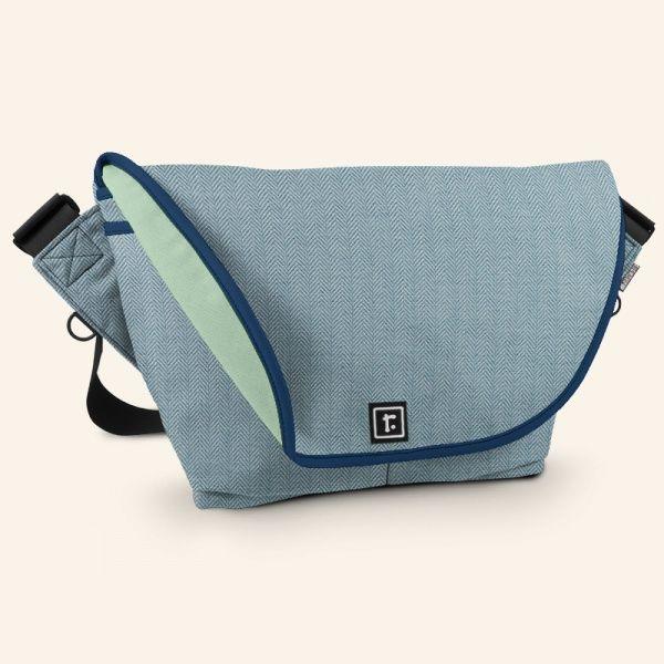 Medium Zero Messenger Bag | Performance Tweed™ Bluebird