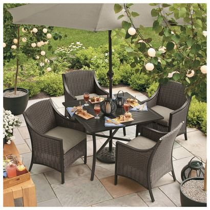 win this threshold castetta patio dining set from target schwans rh pinterest com