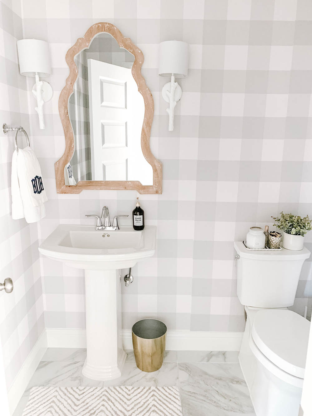 Modern Farmhouse Powder Bathroom Reveal Home decor