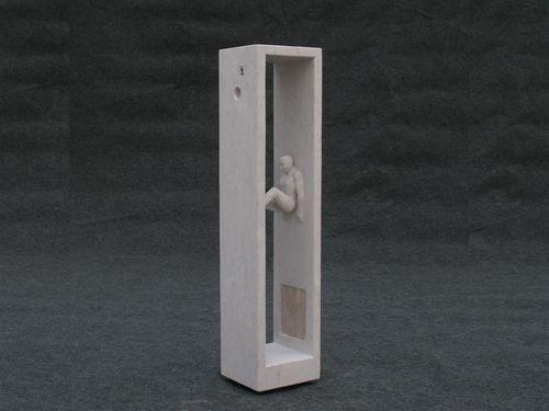 Artist : José Eduardo Title : Tão Perto e Tão Longe Media : Sculpture - Stone Size : 22cm x 24cm x 105cm Price : @www.artcatto.com
