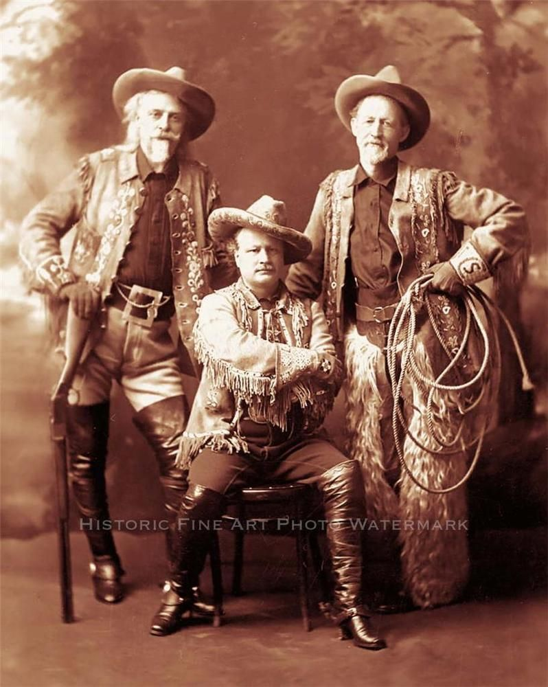 Buffalo Bill Cody Pawnee Bill Buffalo Jones Photo Old Wild West