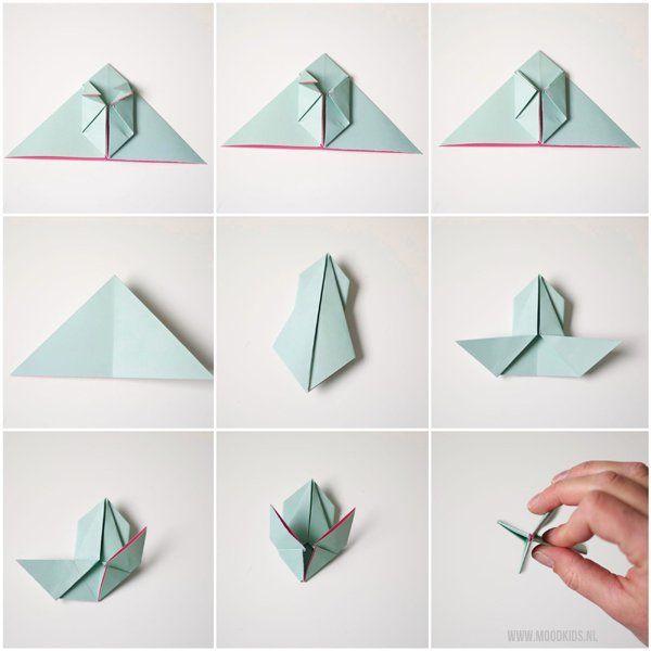 Voorkeur Een origami haas vouwen doe je zo   Pinterest - Konijn, Origami en  &EK33