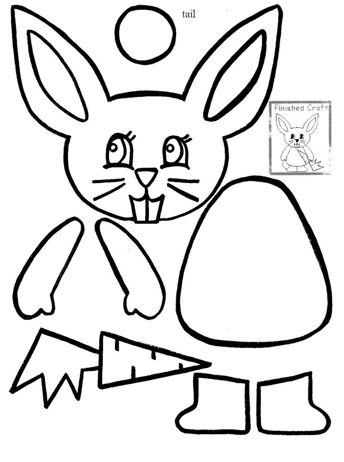 Felt Easter Bunny Candy Pocket Easter Bunny Faces Bunny Face Bunny Template