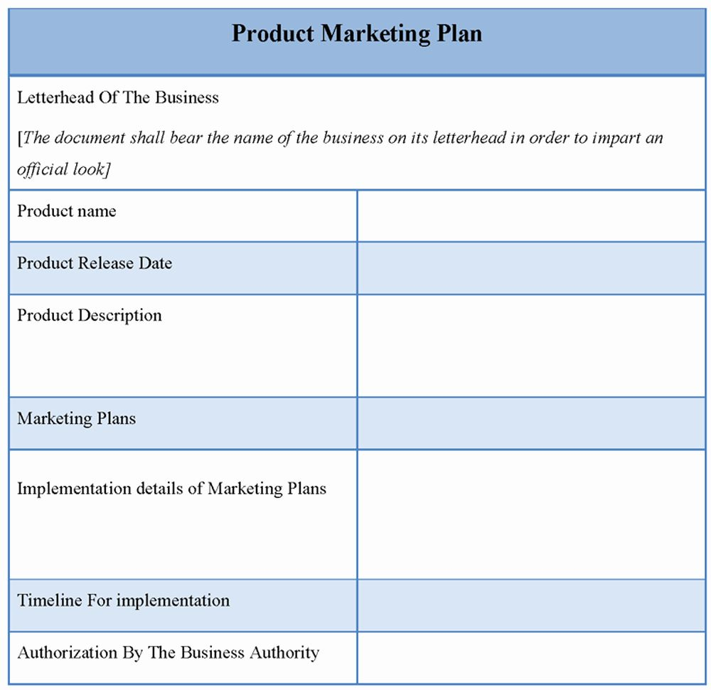 Marketing Plan Template Free In 2020 Marketing Plan Template