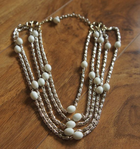 Estate Vintage Jewelry Necklace  Chain Beaded by VintageEstate86