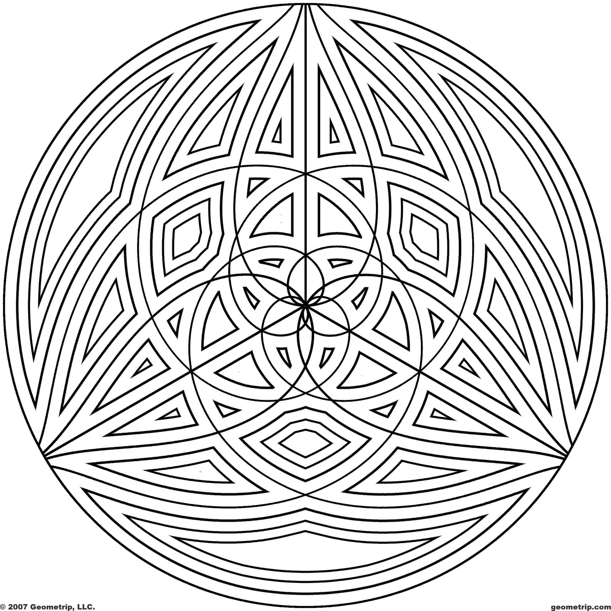 Geometrip Com Free Geometric Coloring Designs Circles Geometric Coloring Pages Cool Coloring Pages Mandala Coloring Pages