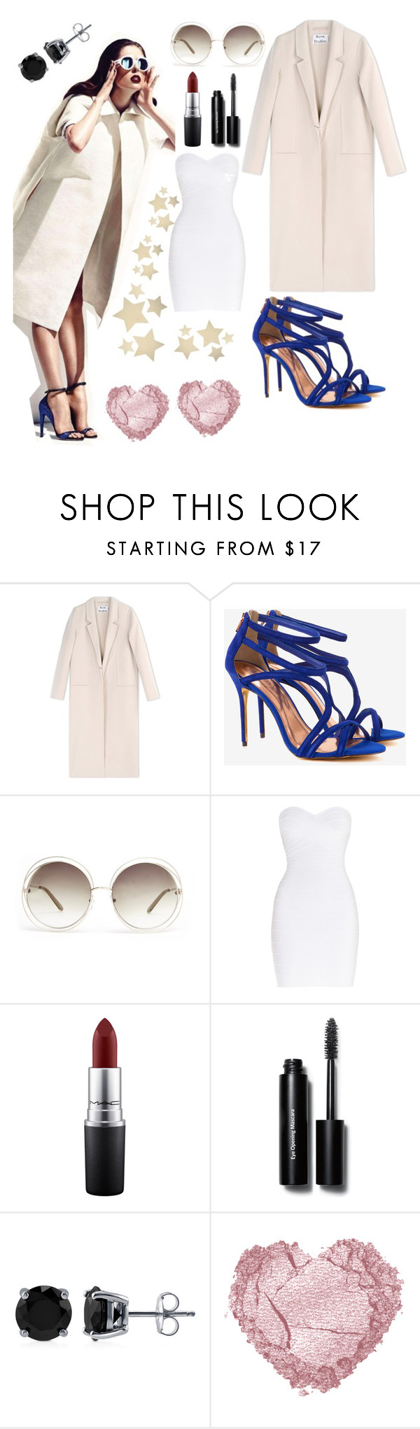 """""""chic #!!"""" by slandinez ❤ liked on Polyvore featuring Acne Studios, Ted Baker, Chloé, Hervé Léger, MAC Cosmetics, Bobbi Brown Cosmetics, BERRICLE and Bethany Lowe"""