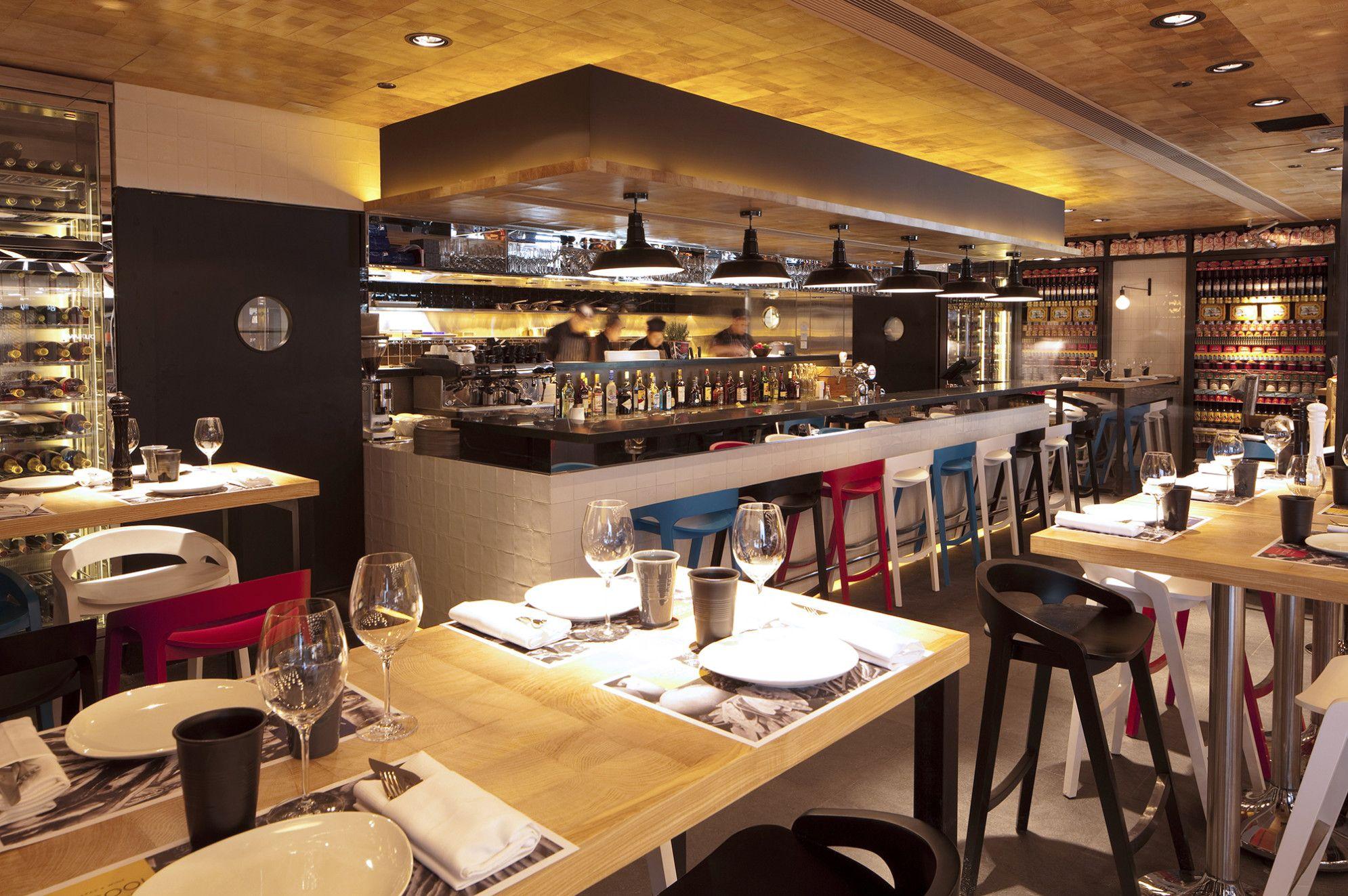 Restaurant Kitchen Bar Design onze 13x13 cotto wandtegels gebruikt voor de bar bavn vi cool