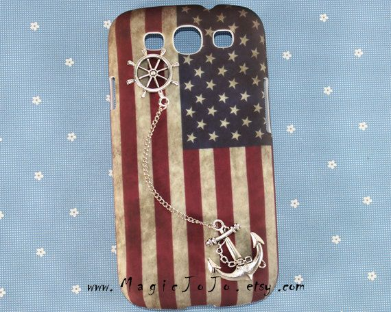 Vintage American Flag Samsung Galaxy S3/S4/Note2 by MagicJoJo, $13.99