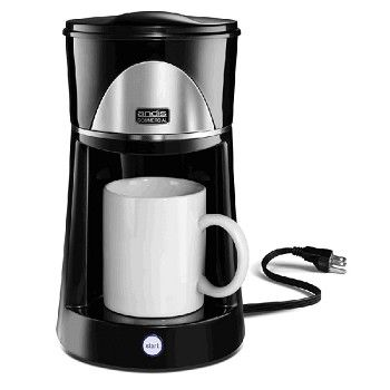 No Exposed Hot Plate Or Heating Element Makes This Coffee Maker Dorm Room Compliant Great For Whe One Cup Coffee Maker 1 Cup Coffee Maker Coffee Maker Machine