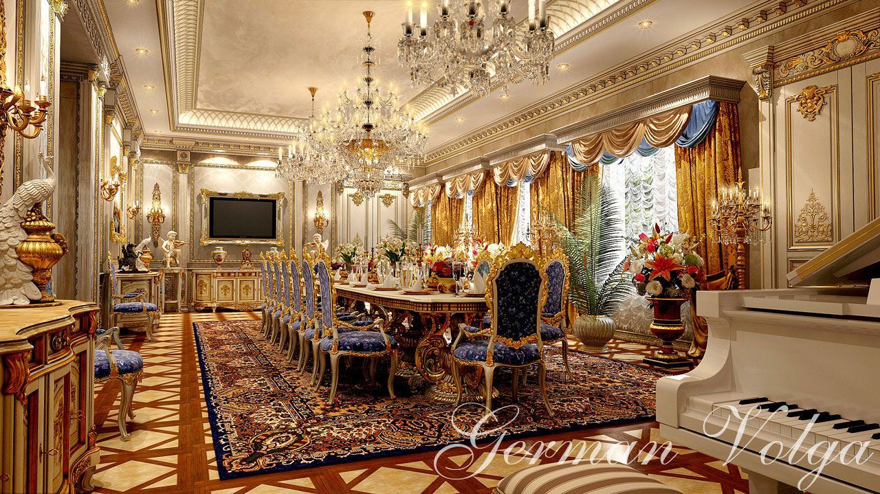 German Volga En Project 2 Interior DecoratingGermanLuxeDining RoomsDrawing