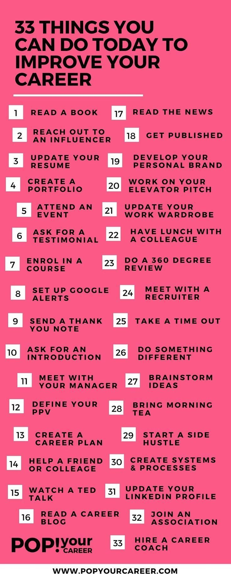allcupation | 33 things you can do today to improve your career ...