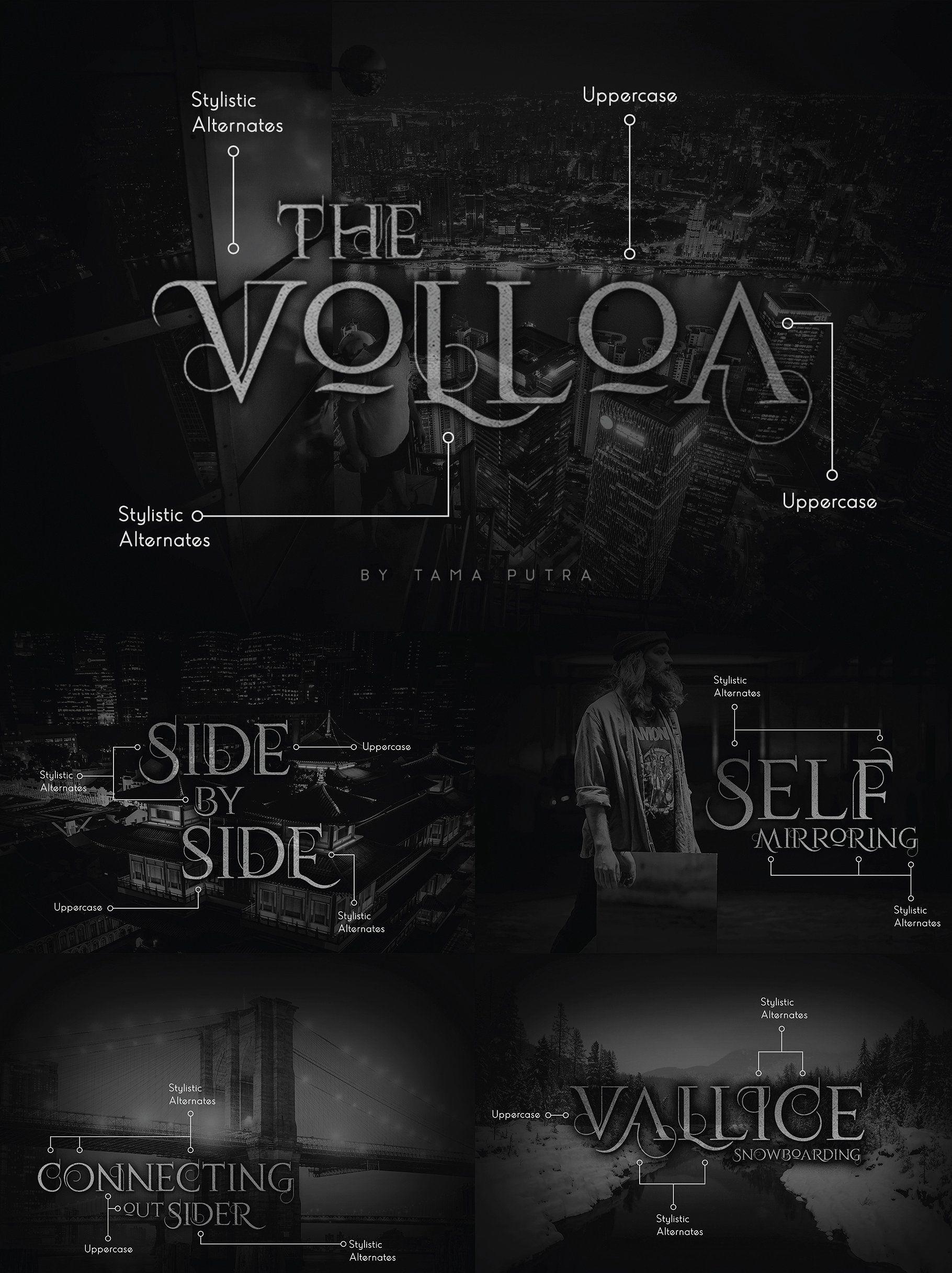Volloa Decorative Serif Typeface #TTF#format#Webfont#Content