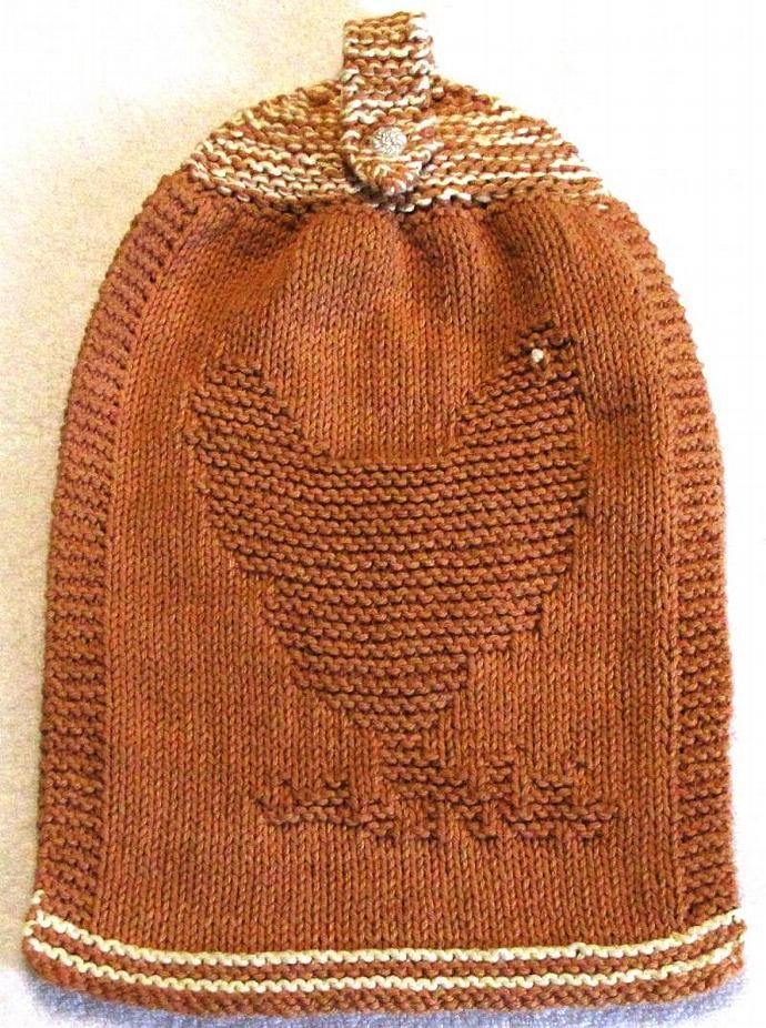 Knitting Pattern - Double Hanging Hand Towel with CHICKEN Design ...