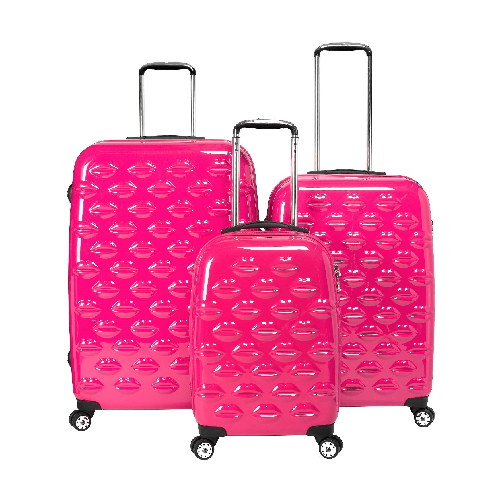 Hot Pink Luggage Set | Lulu Guinness | Lee's family reunion ...