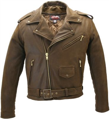 Men's Classic Vintage Motorcycle Leather Jacket
