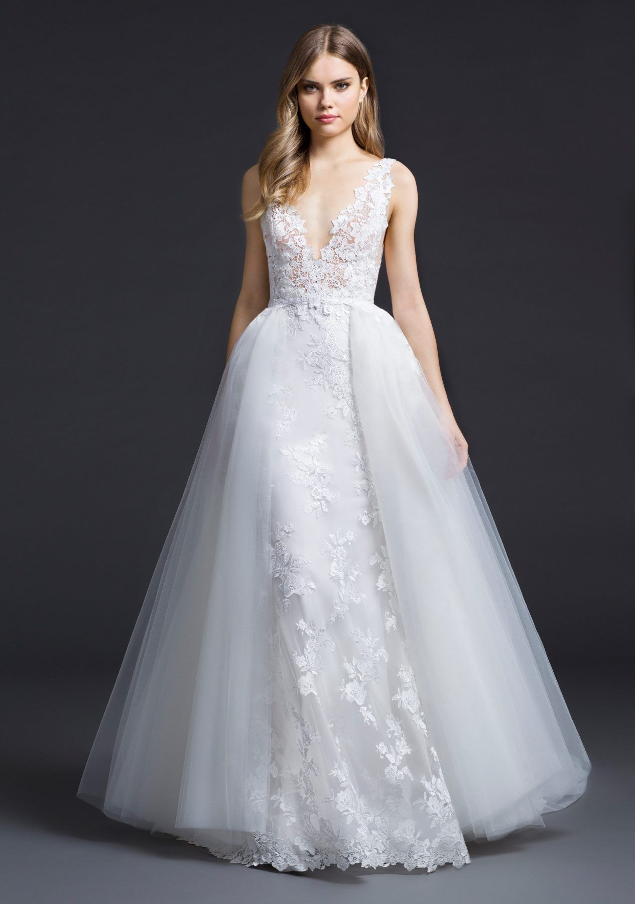White puffy wedding dresses  Ball Gown Wedding Dress by Lazaro  Image   Say Yes to the Dress