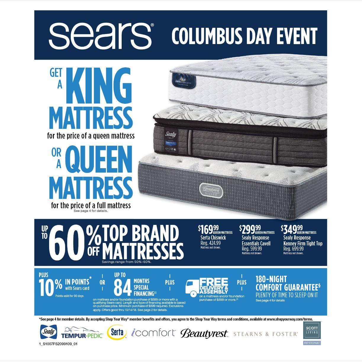 Size Queen Mattresses Sears