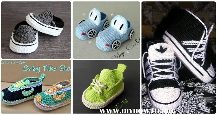 Crochet Sneaker Slipper Booties Free Patterns & Paid Baby Shoes ...