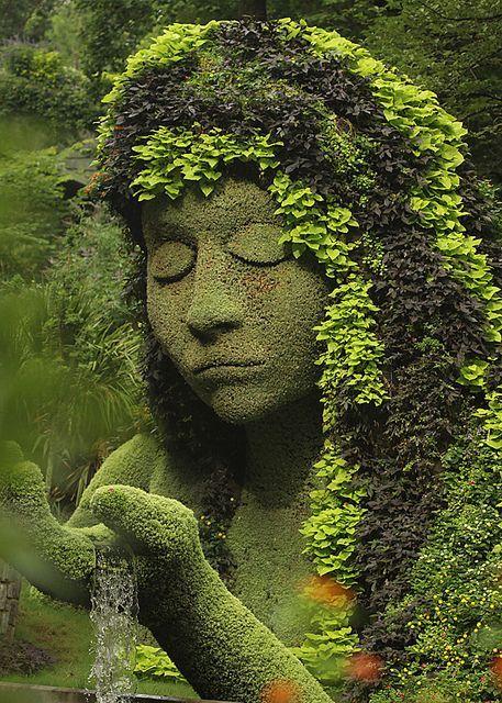 The Earth Goddess at Atlanta Botanical Garden / USA (by Steven W... (It's a beautiful world) #botanicgarden