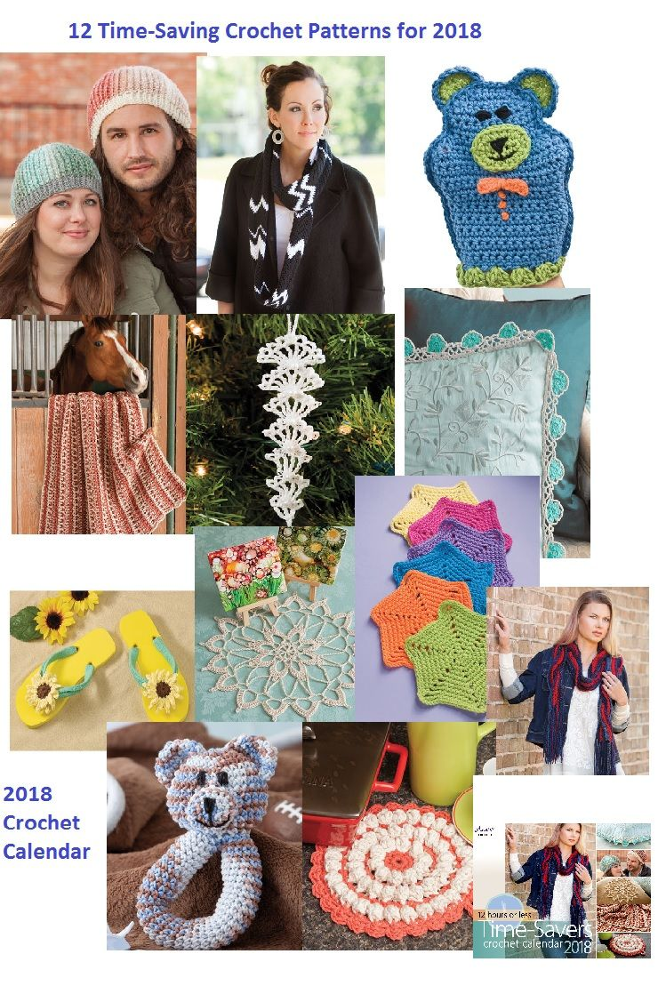 The 2018 Crochet Calendar Features Projects to Finish in a Weekend ...