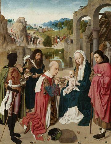 GEERTGEN TOT SINT JANS (attribuito) - 'L'Adorazione dei Magi' - circa 1480-1484 - Rijksmuseum di Amsterdam